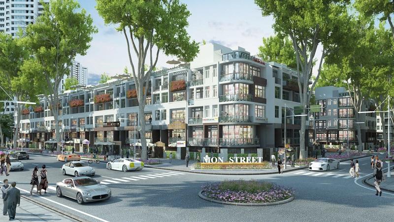 Mẫu shophouse dự án HD Mon City Mỹ Đình