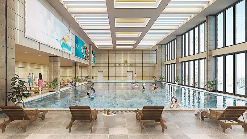 Bể bơi 4 mùa dự án Imperia Garden - 203 Nguyễn Huy Tưởng