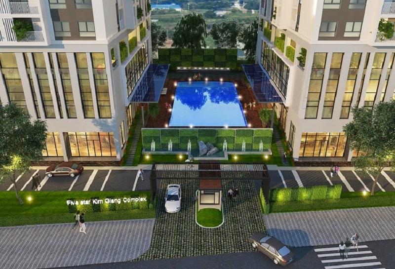 Bể bơi chung cư Five Star Garden số 2 Kim Giang