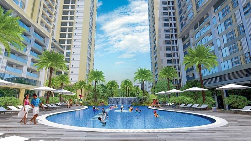 Bể bơi ngoài trời dự án Imperia Garden - 203 Nguyễn Huy Tưởng