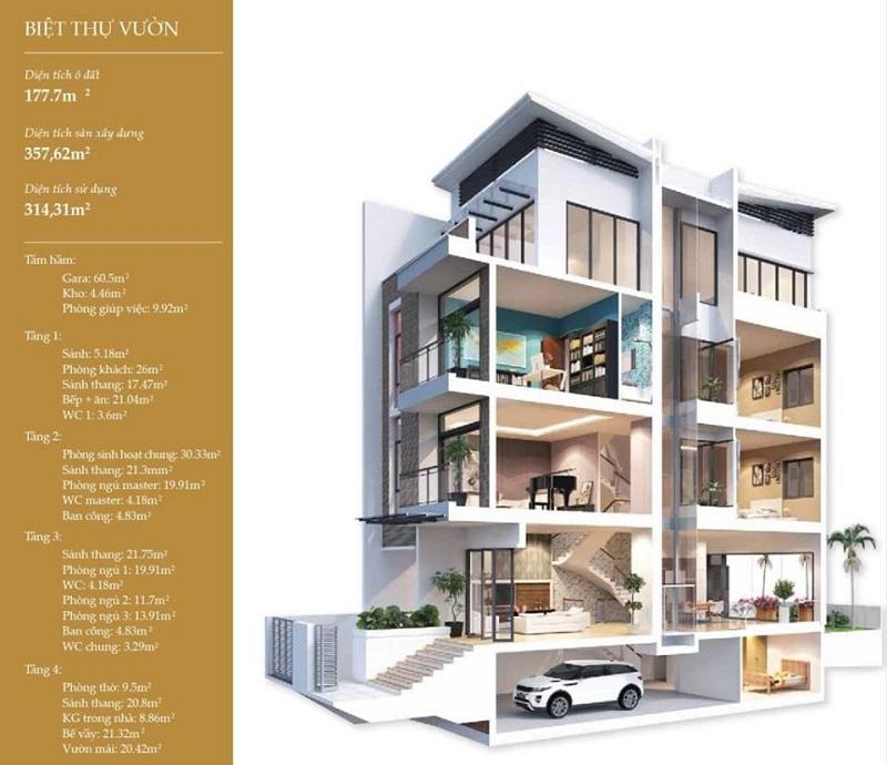 Biệt thự Shop Villa Imperia Garden 203 Nguyễn Huy Tưởng 5