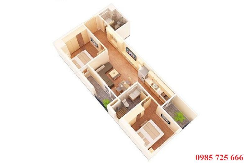 Thiết kế mới căn 67,5m2 Mỹ Sơn Tower 62 Nguyễn Huy Tưởng - Thanh Xuân