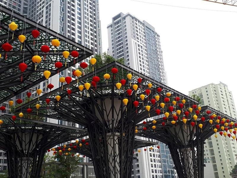 Cổng chào dự án Goldmark City 136 Hồ Tùng Mậu - Từ Liêm