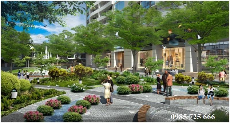 Công viên Trường Xuân dự án Tràng An Complex - 01 Phùng Chí Kiên - Hoàng Quốc Việt