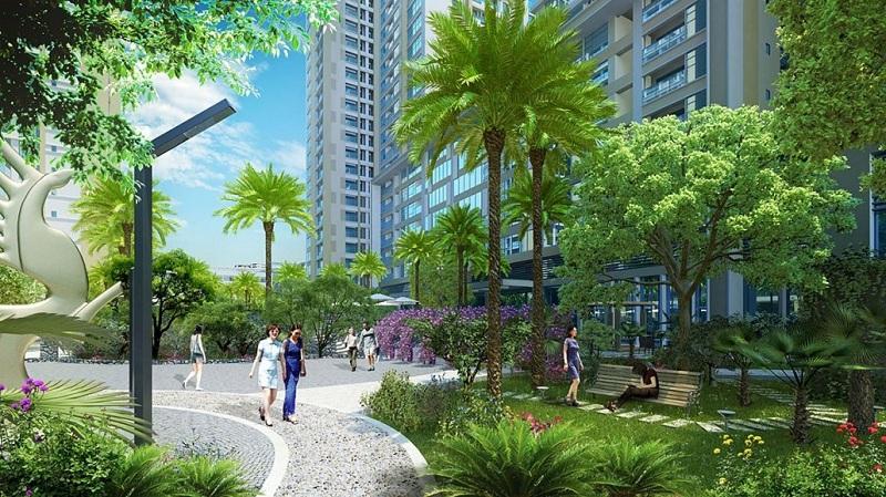 Đường dạo bộ dự án Imperia Garden - 203 Nguyễn Huy Tưởng