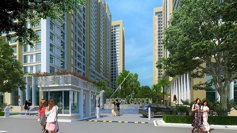 Cổng vào dự án Imperia Garden - 203 Nguyễn Huy Tưởng - Thanh Xuân