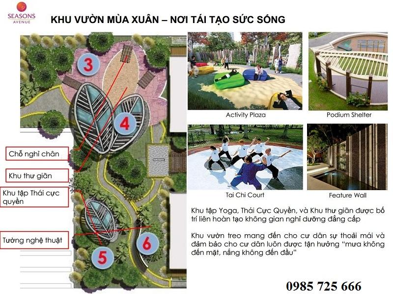 Khu vườn mùa xuân dự án Seasons Avenue - Capitaland