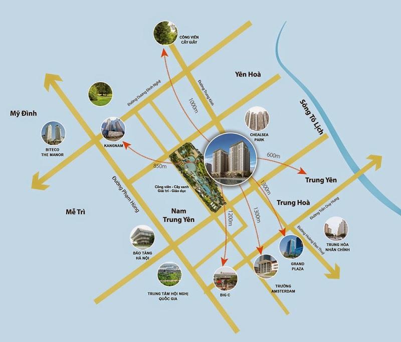 Vị trí và kết nối dự án Home City - 177 Trung Kính
