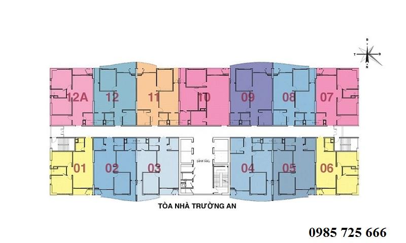 Mặt bằng tòa Trường An dự án Tràng An Complex - 01 Phùng Chí Kiên - Hoàng Quốc Việt