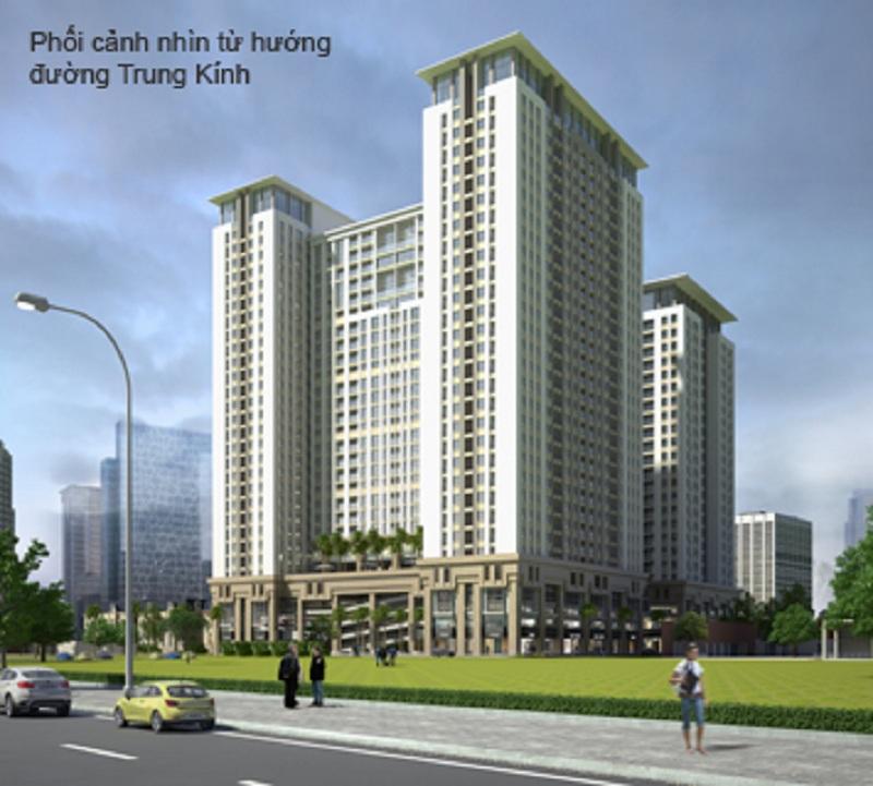 Tòa V2-V3 mặt sau dự án Home City - 177 Trung Kính