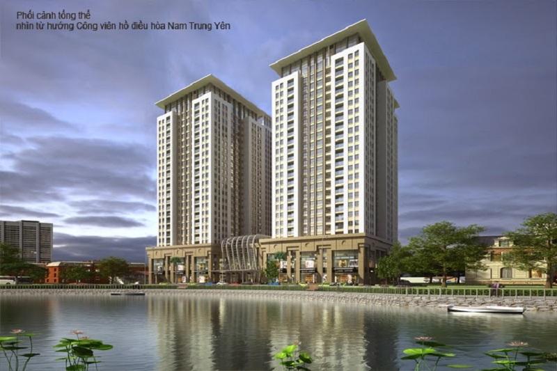 Tòa V1-V4 mặt trước dự án Home City - 177 Trung Kính