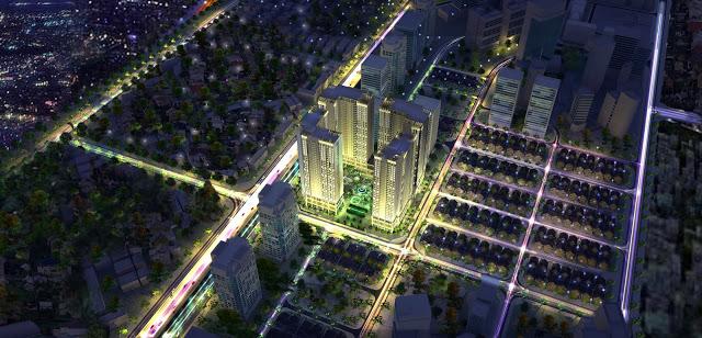 Phối cảnh dự án Eco Green City Nguyễn Xiển về đêm
