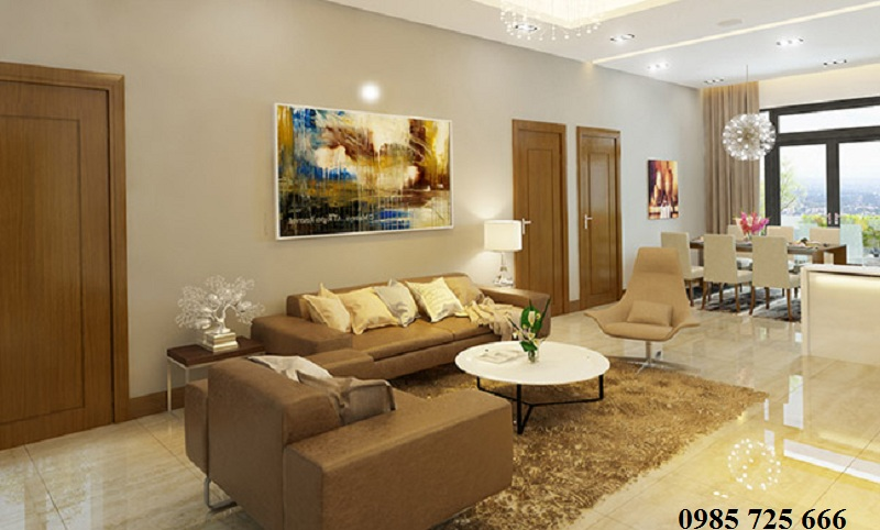 Phòng khách dự án Tràng An Complex - 01 Phùng Chí Kiên - Hoàng Quốc Việt