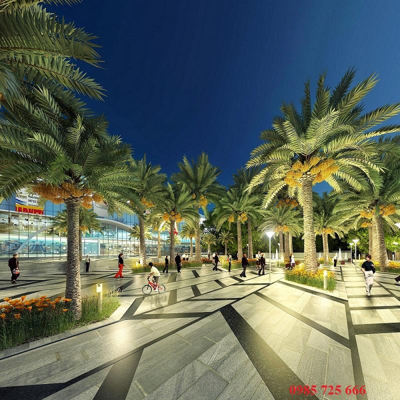 Cận cảnh quảng trường ánh sáng Goldmark City - 136 Hồ Tùng Mậu - Từ Liêm