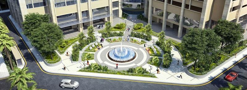 Quảng trường dự án Eco Green City Nguyễn Xiển