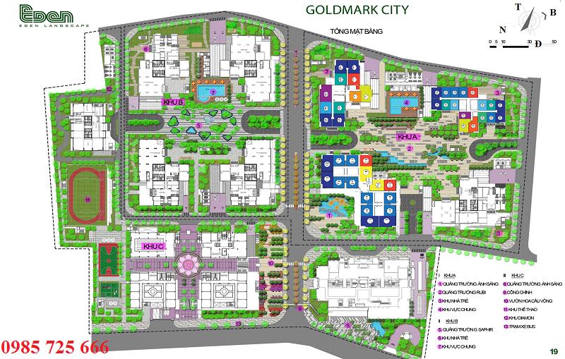 Quy mô cảnh quan dự án Goldmark City