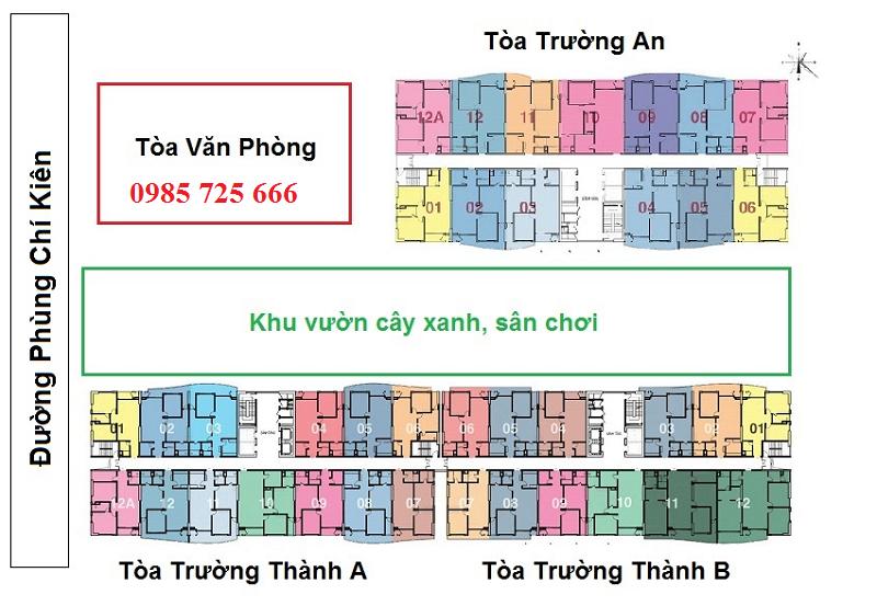 Master Plan dự án Tràng An Complex - 01 Phùng Chí Kiên - Hoàng Quốc Việt