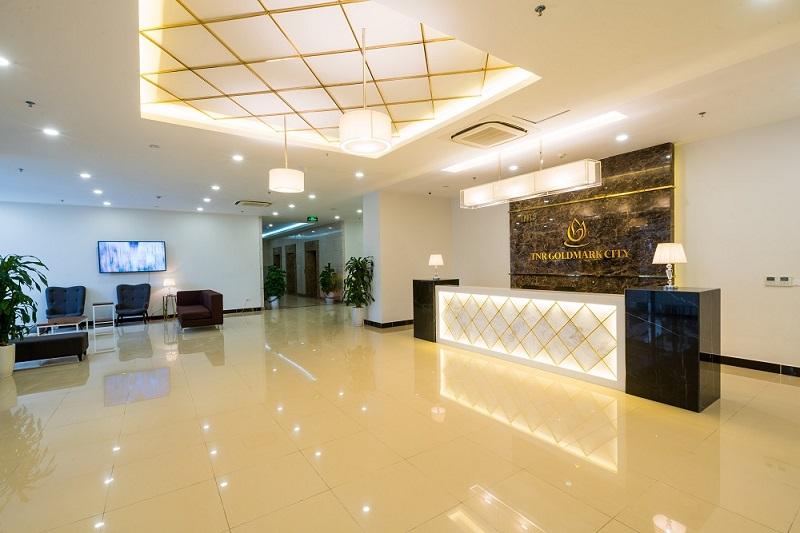 Sảnh lễ tân dự án Goldmark City 136 Hồ Tùng Mậu