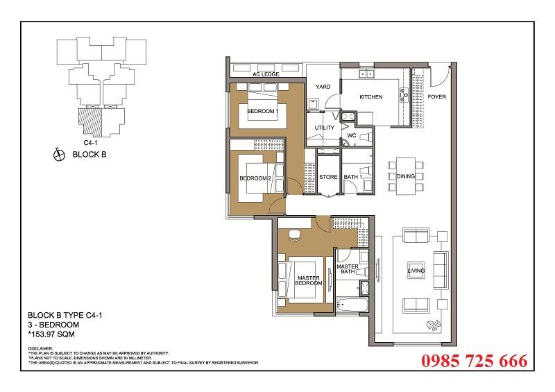 Thiết kế căn 1 tòa B -C -D Mulberry Lane