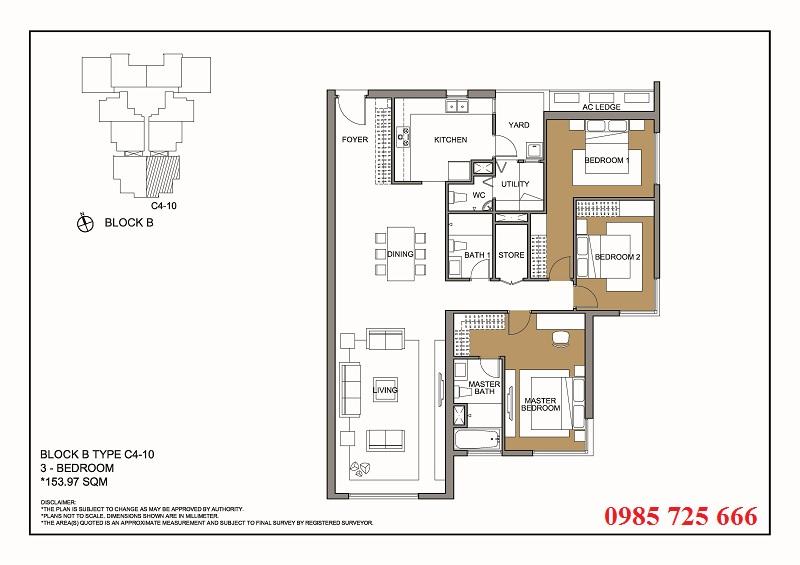 Thiết kế căn 10 tòa B -C -D Mulberry Lane Mỗ Lao
