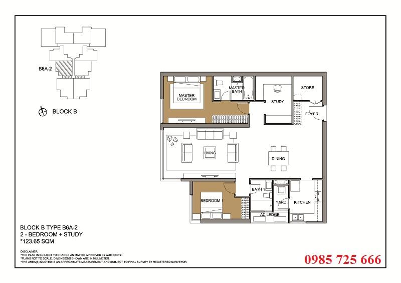 Thiết kế căn 2 tòa B -C -D Mulberry Lane