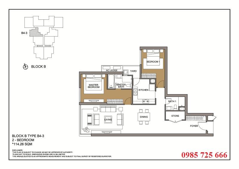 Thiết kế căn 3 tòa B -C -D Mulberry Lane