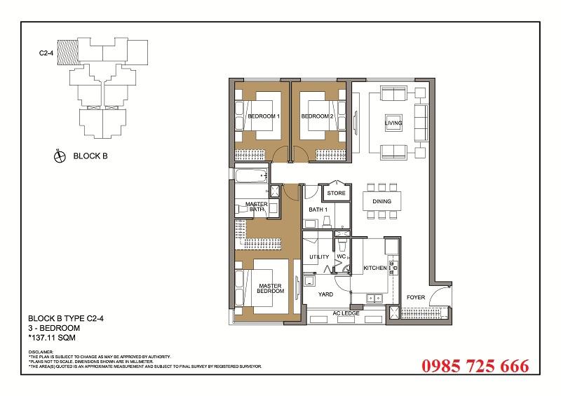 Thiết kế căn 4 tòa B -C -D Mulberry Lane