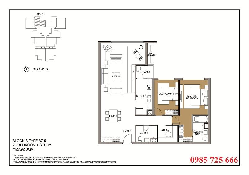 Thiết kế căn 5 tòa B -C -D Mulberry Lane Mỗ Lao
