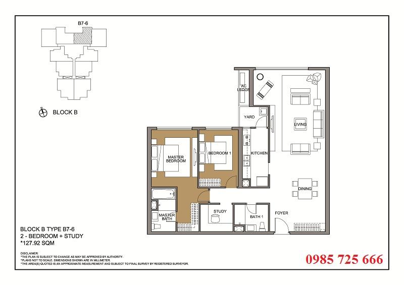 Thiết kế căn 6 tòa B -C -D Mulberry Lane Mỗ Lao