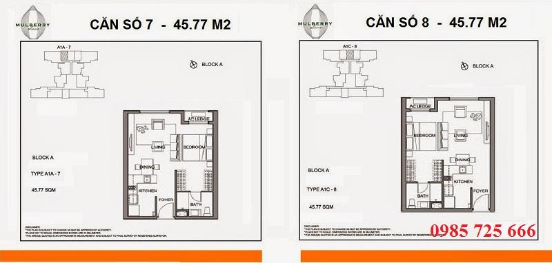 Thiết kế căn 7-8 tòa A Mulberry Lane