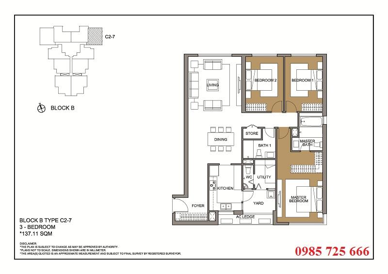 Thiết kế căn 7 tòa B -C -D Mulberry Lane