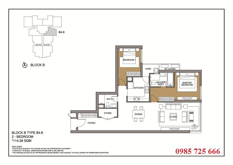 Thiết kế căn 8 tòa B -C -D Mulberry Lane