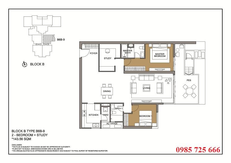 Thiết kế căn 9 tòa B -C -D Mulberry Lane Mỗ Lao