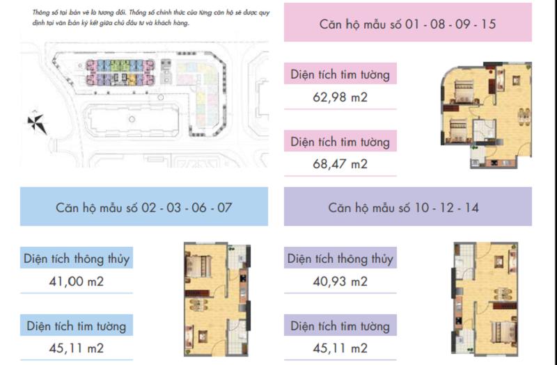 Thiết kế căn hộ tòa CT1A - Khu đô thị mới Nghĩa Đô - 106 Hoàng Quốc Việt - Cầu Giấy