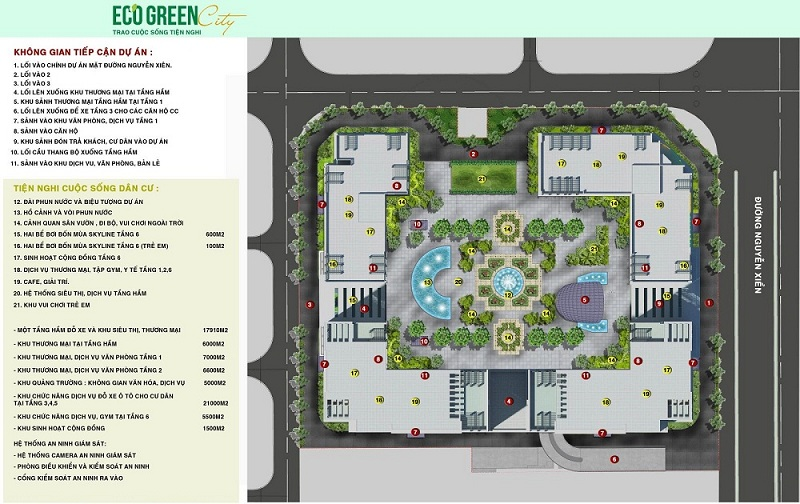 Tiện ích Eco Green City Nguyễn Xiển