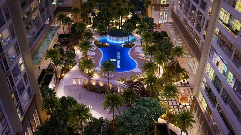 Bể bơi về đêm Imperia Garden - 203 Nguyễn Huy Tưởng