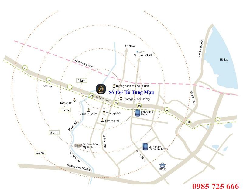 Vị trí Goldmark City 136 Hồ Tùng Mậu - Từ Liêm