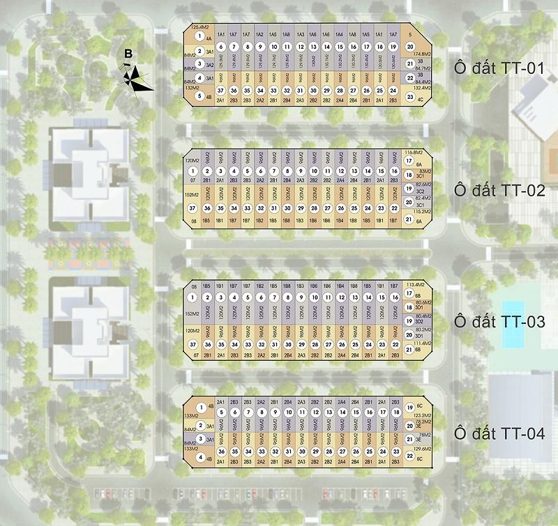 Vị trí lô liền kề dự án HD Mon City Mỹ Đình