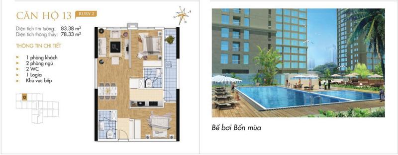 Thiết kế chi tiết căn hộ 13 Ruby 2 Goldmark City