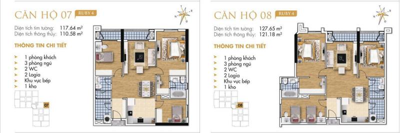 Thiết kế chi tiết căn hộ 7-8 Ruby 4 Goldmark City- 136 Hồ Tùng Mậu - Từ Liêm