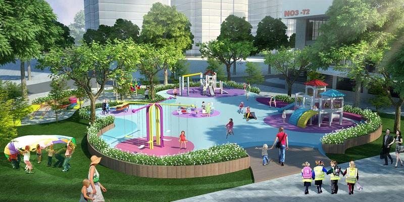 Công viên tại dự án N02 - T1 kdt Ngoại Giao Đoàn