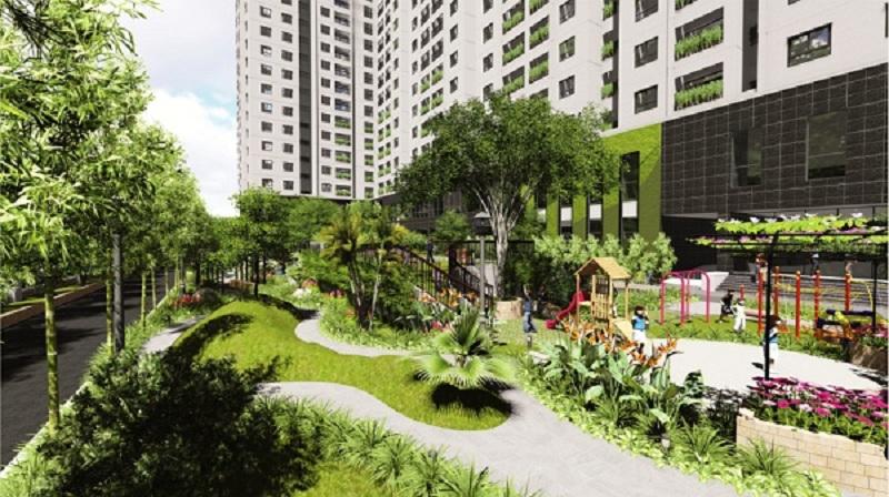 Vườn cây xanh Ecolife Tây Hồ