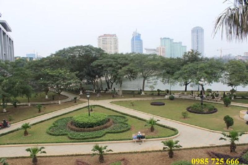 Công viên Indira Gandhi cạnh dự án Chung cư Oriental Plaza - 16 Láng Hạ - Ba Đình