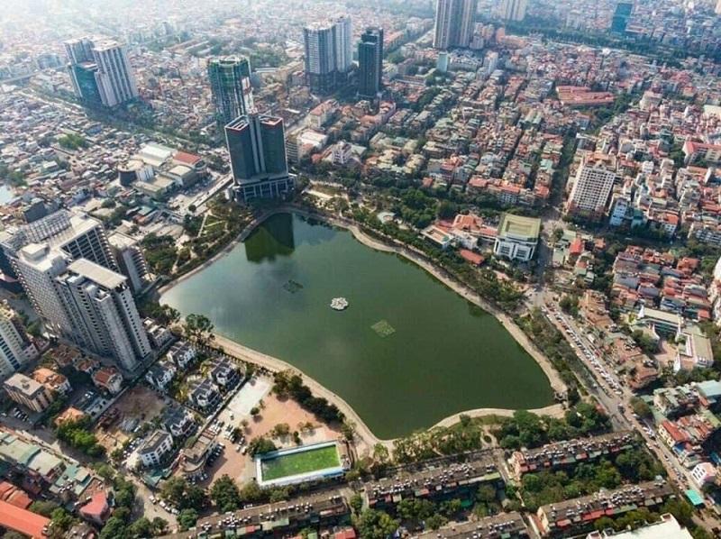 Flycam tiến độ xây dựng dự án BRG Grand Plaza 16 Láng Hạ