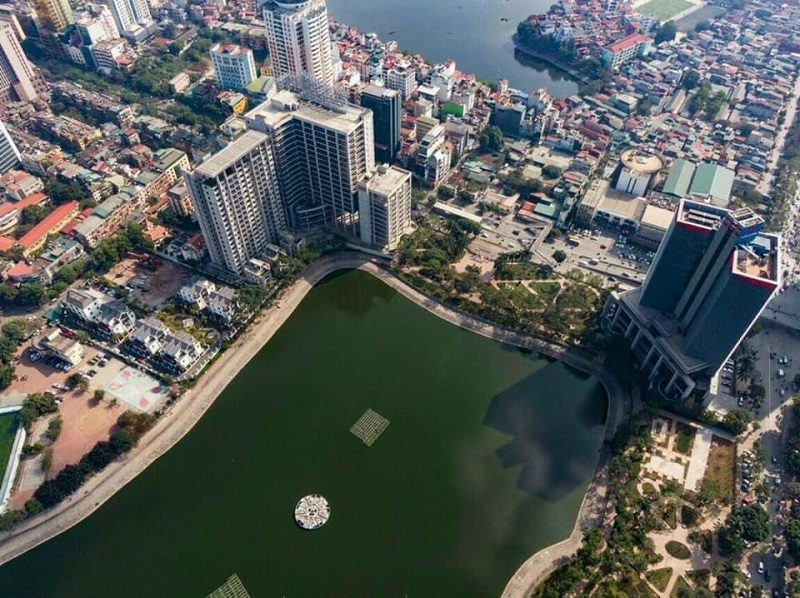 Flycam 3 tiến độ xây dựng dự án BRG Grand Plaza 16 Láng Hạ