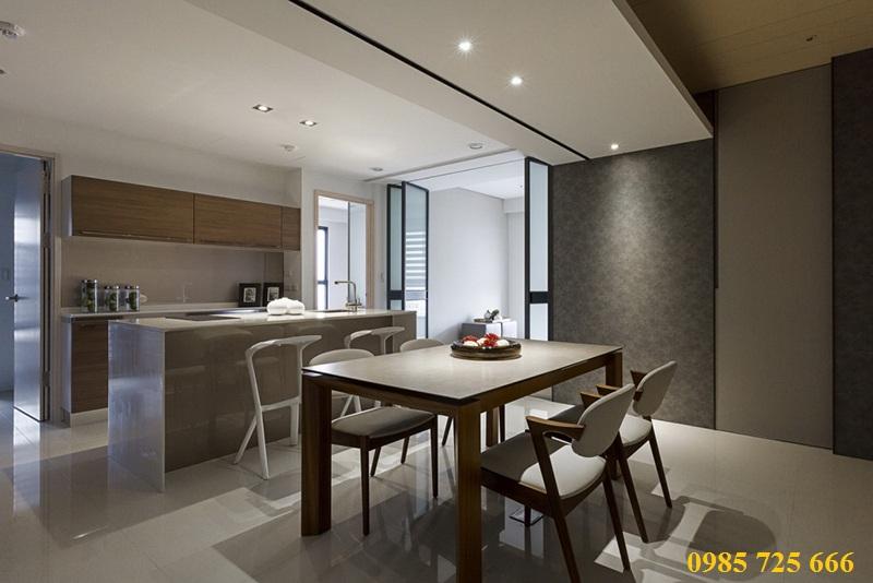 Thiết kế nội thất phòng ăn chung cư Oriental Plaza - 16 Láng Hạ - Ba Đình