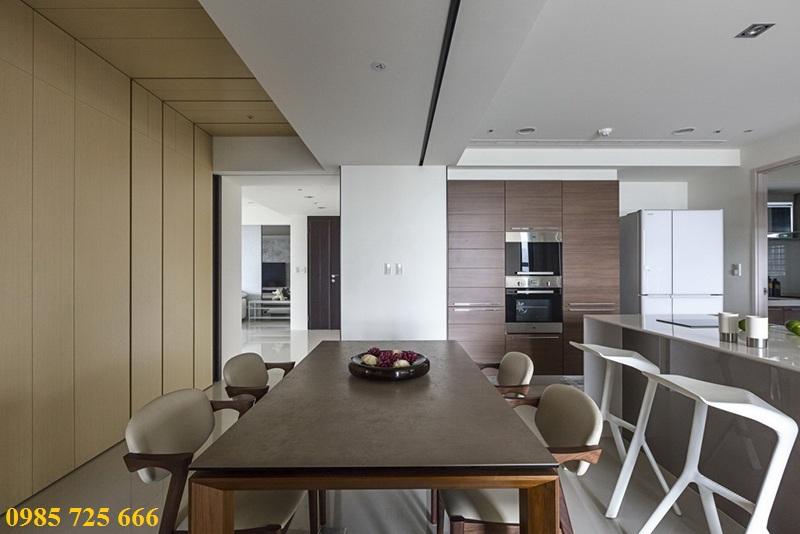 Thiết kế nội thất phòng ăn chung cư Oriental Plaza - 16 Láng Hạ