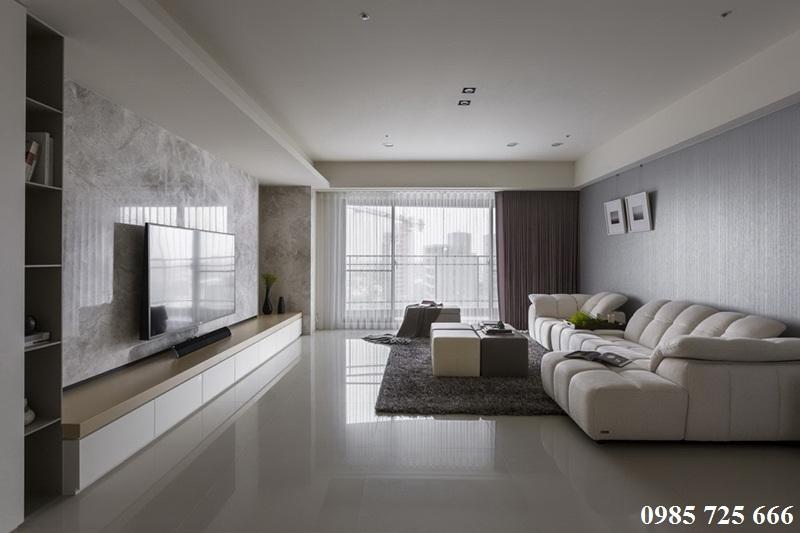 Thiết kế nội thất phòng khách chung cư Oriental Plaza - 16 Láng Hạ