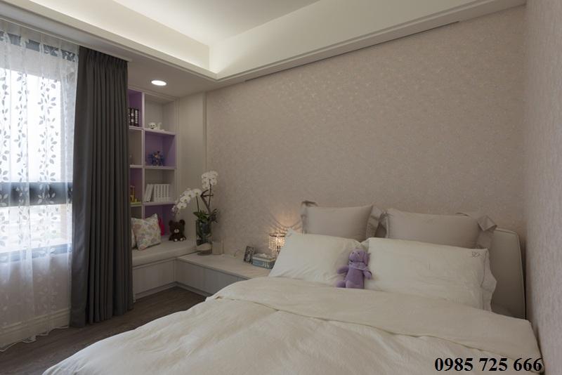 Thiết kế nội thất phòng ngủ chung cư Oriental Plaza - 16 Láng Hạ - Ba Đình