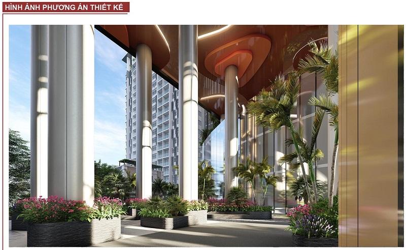 Phương án thiết kế sảnh dự án BRG Grand Plaza 16 Láng Hạ 2